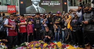 Kobe Bryant fans and Grammy attendees mourn together at Staples Center