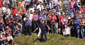 Ryder Cup: DeChambeau plunks woman with first drive